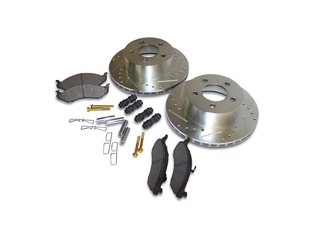 Performance Drilled & Slotted Brake Rotor & Pad Kit - Front (90-06 Jeep Wrangler YJ & TJ)