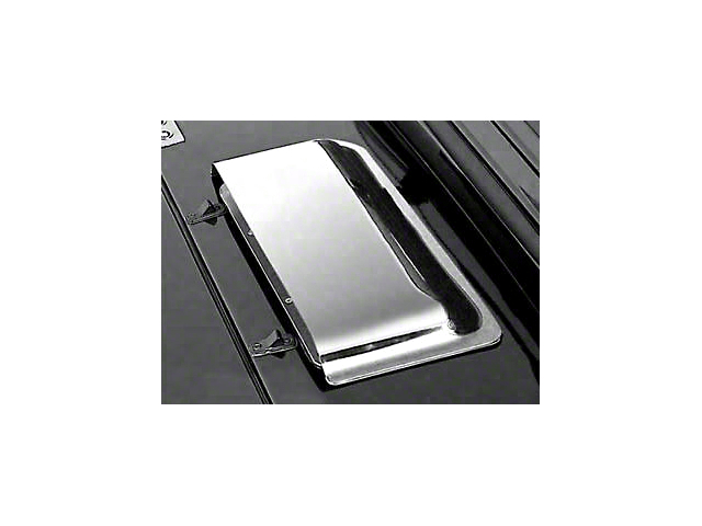 Rugged Ridge Cowl Vent Scoop; Chrome (87-06 Jeep Wrangler YJ & TJ)