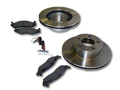Crown Automotive Service Disc Brake Rotor & Pad Kit - Front (87-89 Jeep Wrangler YJ)
