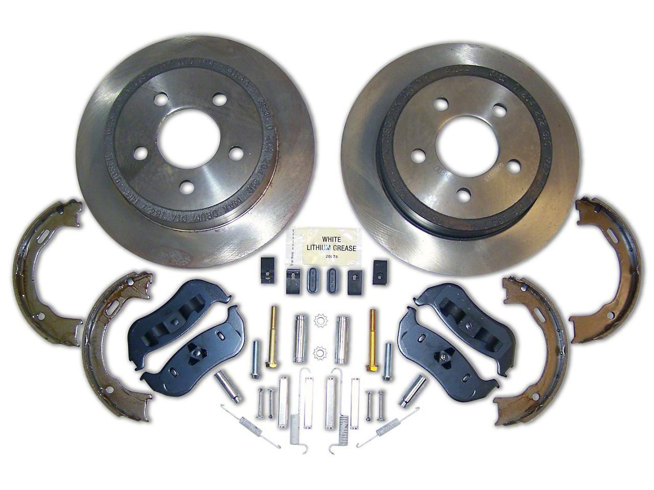 Crown Automotive Service Disc Brake Rotor & Pad Kit - Rear (03-06 Jeep Wrangler TJ w/ Rear Disc Brakes)