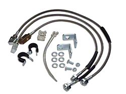 Stainless Steel Brake Hose Kit for 0 to 6-Inch Lift (87-06 Jeep Wrangler YJ & TJ)