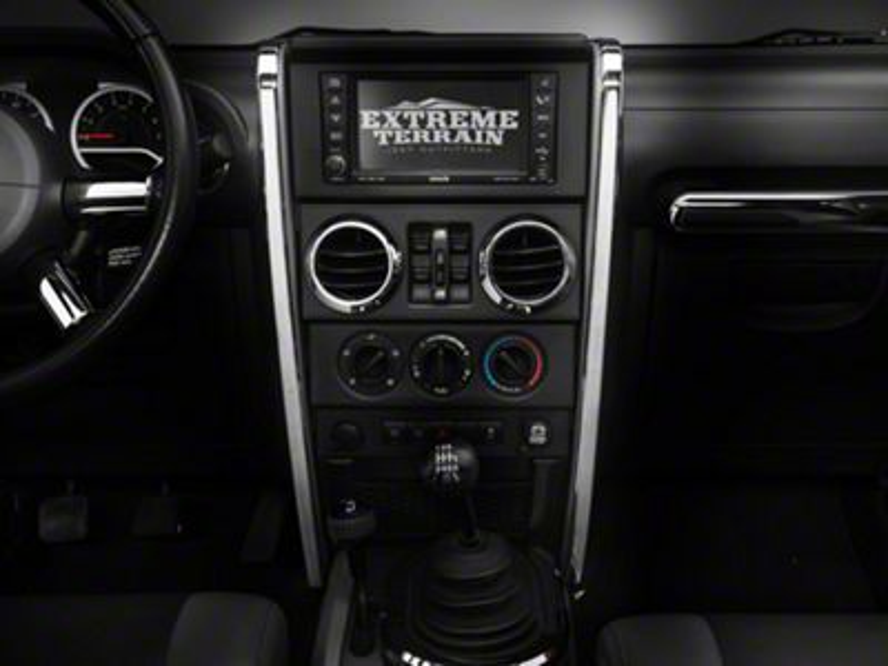 Rugged Ridge Chrome Center Dash Accent - Pair (07-10 Jeep Wrangler JK)