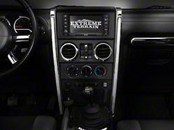 Rugged Ridge Center Dashboard Accents; Chrome (07-10 Jeep Wrangler JK)