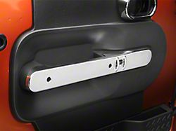 Rugged Ridge Rear Chrome Door Handle Trim - Pair (07-10 Jeep Wrangler JK)