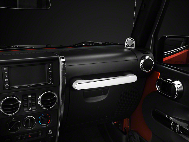 Rugged Ridge Chrome Front Grab Bar Handle Trim (07-10 Jeep Wrangler JK)