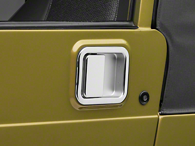 Omix-ADA Chrome Full Steel Door Paddle Handle (87-95 Jeep Wrangler YJ LH, 97-06 Jeep Wrangler TJ RH)