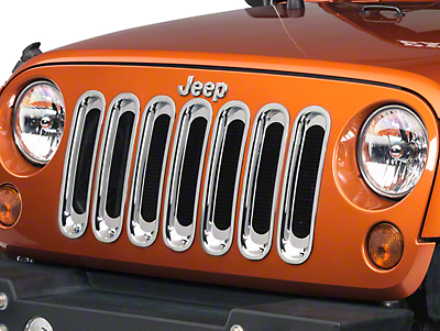 Rugged Ridge Chrome Grille Inserts (07-18 Jeep Wrangler JK)