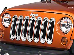 Rugged Ridge Grille Inserts - Chrome (07-18 Jeep Wrangler JK)
