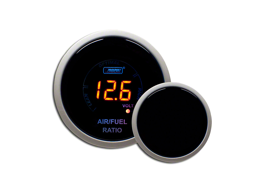 Prosport 52mm Digital Air/Fuel and Voltage Gauge; Electrical; Amber (Universal Fitment)