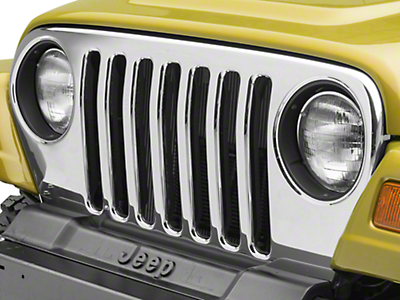 Omix-ADA Chrome Grille Overlay (97-06 Jeep Wrangler TJ)