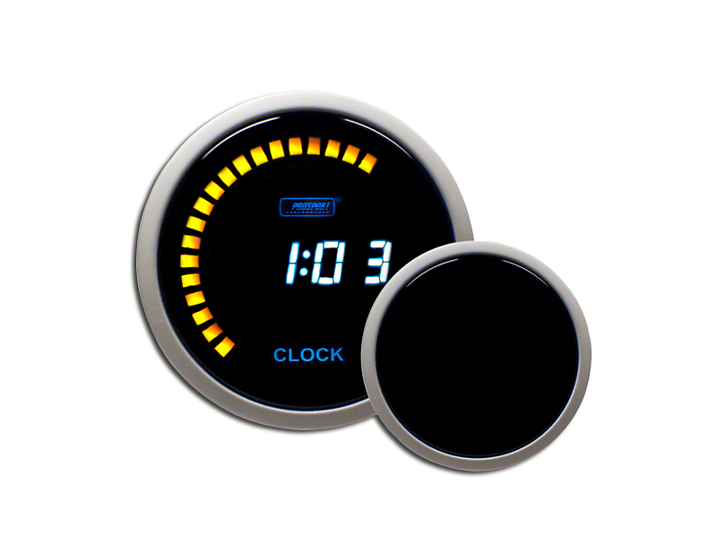 Prosport 52mm Performance Series Digital Clock; Blue (Universal Fitment)