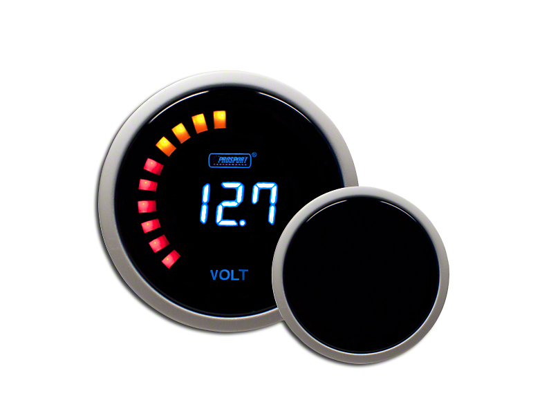Prosport Wrangler Digital Volt Gauge - Electrical PSVOLCD-NEW (97-18 ...