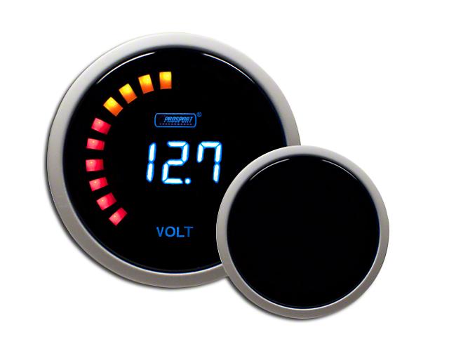Prosport 52mm Digital Volt Gauge; Electrical; Blue (Universal Fitment)