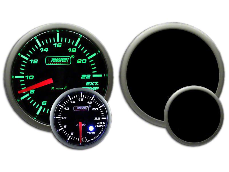 Prosport Dual Color EGT Premium Boost Gauge - Green/White (97-18 Wrangler TJ, JK & JL)