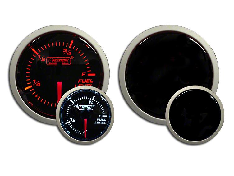 Prosport Dual Color Fuel Level Gauge - Electrical - Amber/White (97-18 Wrangler TJ, JK & JL)