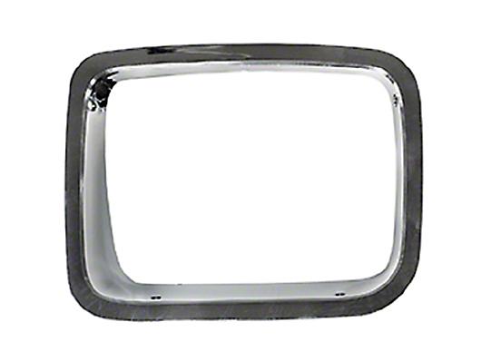 Omix-ADA Chrome Headlight Bezel Driver Side (87-95 Jeep Wrangler YJ)