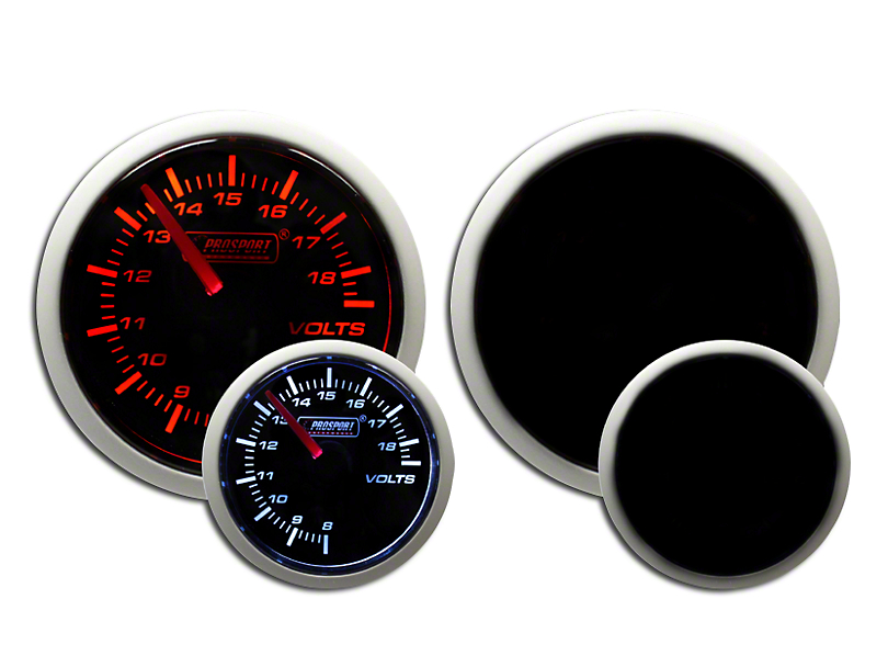 Prosport 52mm Performance Series Volt Gauge; Electrical; Amber/White (Universal Fitment)