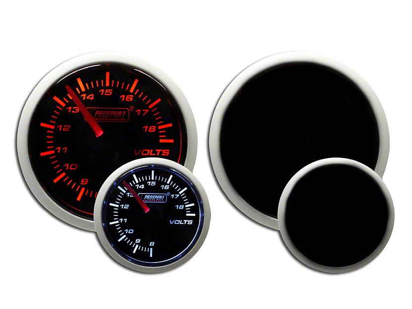 Prosport Dual Color Volt Gauge - Electrical - Amber/White (97-18 Wrangler TJ, JK & JL)