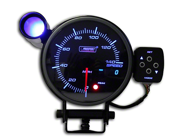 Prosport 95mm Electronic Speedometer; 0-140 MPH (Universal Fitment)