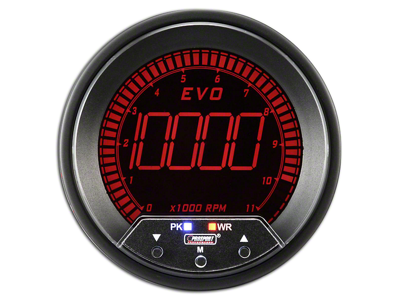 Prosport 80mm Premium EVO Series Tachometer; 85mm (Universal Fitment)