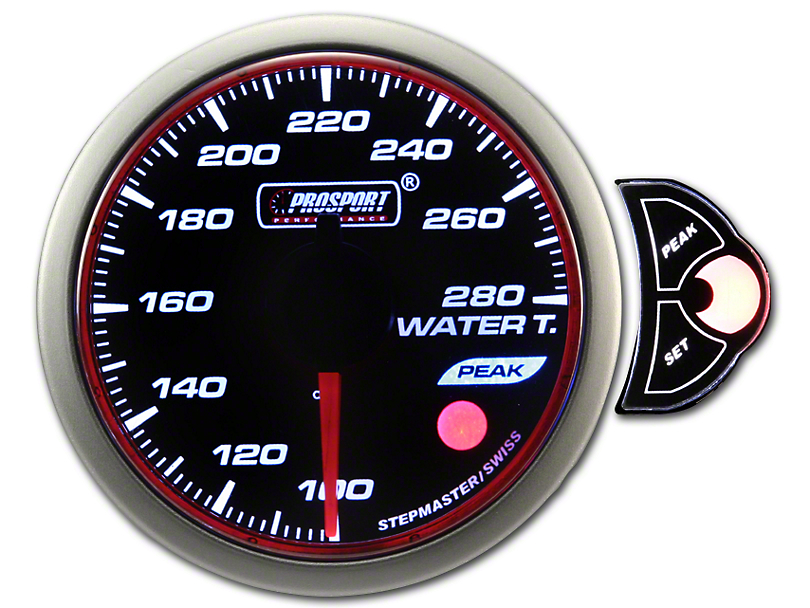 Prosport 52mm Halo Premium Series Water Temperature Gauge; Electrical; Blue/White/Amber (Universal Fitment)