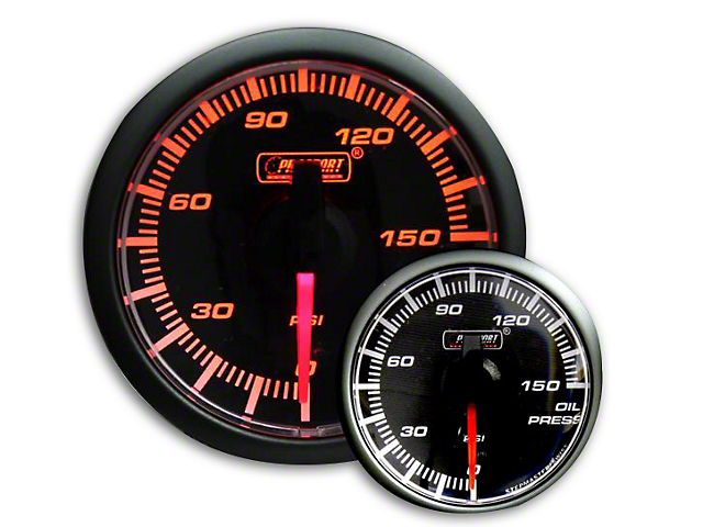 Prosport 45mm Oil Pressure Gauge; Electrical; 0-150 PSI (Universal Fitment)