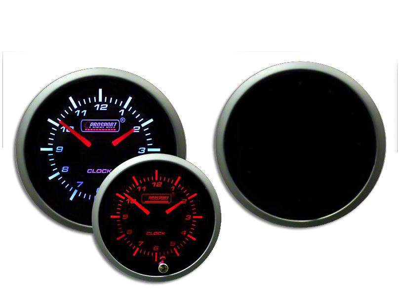 Prosport 52mm Premium Series Analog Clock; Amber/White (Universal Fitment)