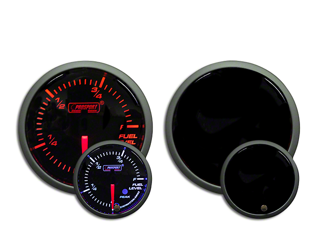 Prosport Dual Color Premium Fuel Level Gauge - Amber/White (97-18 Wrangler TJ, JK & JL)
