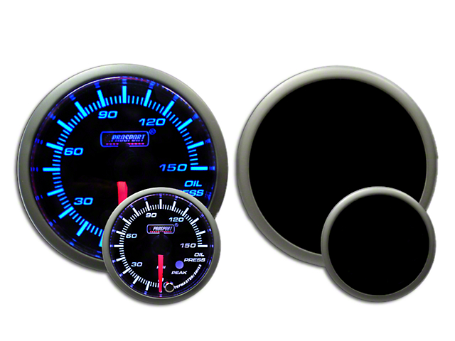 Prosport Dual Color Premium 0-150 PSI Oil Pressure Gauge - Blue/White (Universal Fitment)
