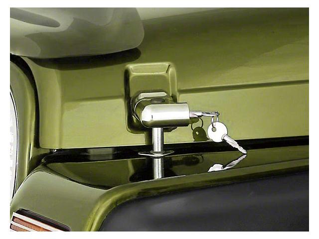 Rugged Ridge Locking Hood Catches; Chrome (97-06 Jeep Wrangler TJ)