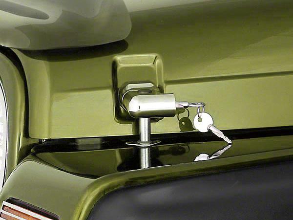 Rugged Ridge Chrome Locking Hood Latch Pair w/ Keys (97-06 Wrangler TJ)