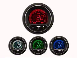 Prosport 52mm Premium EVO Series Evo Boost Gauge; Electrical; 35 PSI; Blue/Red/Green/White (Universal Fitment)