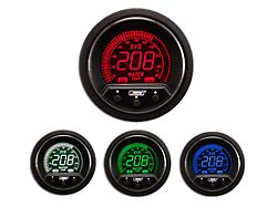Prosport 52mm Premium EVO Series Water Temperature Gauge; Electrical; Blue/Red/Green/White (Universal Fitment)