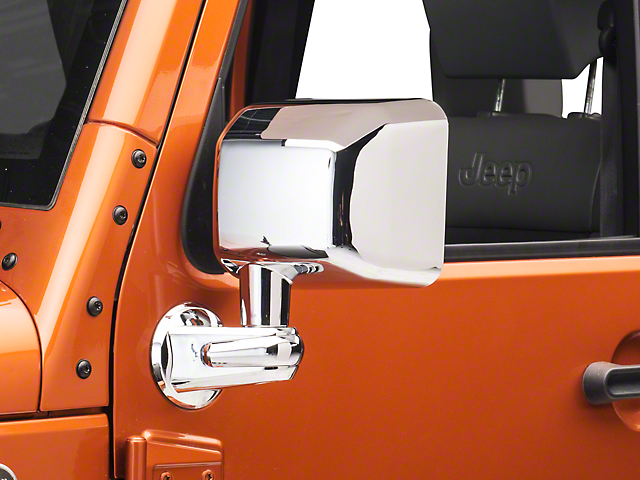 Rugged Ridge Door Mirrors; Chrome (07-18 Jeep Wrangler JK)