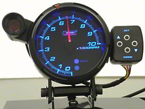 Prosport Tri-Color Tachometer - 95mm (97-18 Jeep Wrangler TJ, JK & JL)