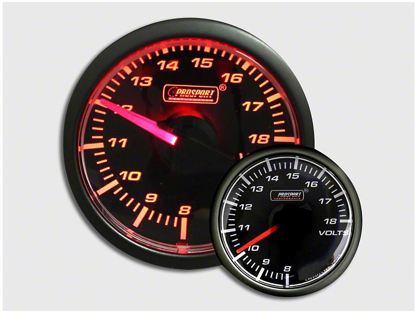 Prosport 45mm Volt Gauge; Electrical; Amber (Universal Fitment)
