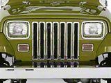 Smittybilt Plastic Grille Inserts - Chrome (87-95 Jeep Wrangler YJ)