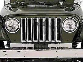 Smittybilt Chrome Plastic Grille Inserts (97-06 Wrangler TJ)