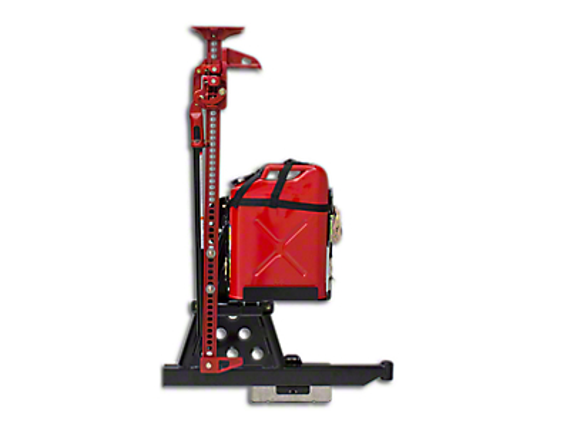 Wilco Offroad Hi-Lift Jack Vertical Mount Tire Carrier & Steel Jerry Can Mounting Kit (87-18 Wrangler YJ, TJ, JK & JL)