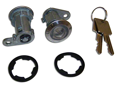 Omix-ADA 2 Door Lock Cylinder Kit (87-90 Jeep Wrangler YJ w/ Full Steel Doors)
