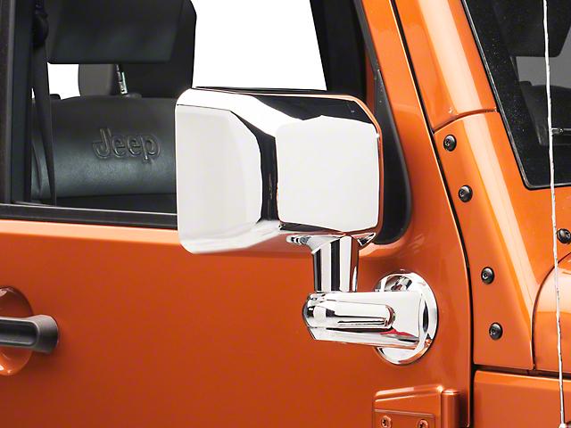 Rugged Ridge Door Mirror - Passenger Side - Chrome (07-18 Jeep Wrangler JK)