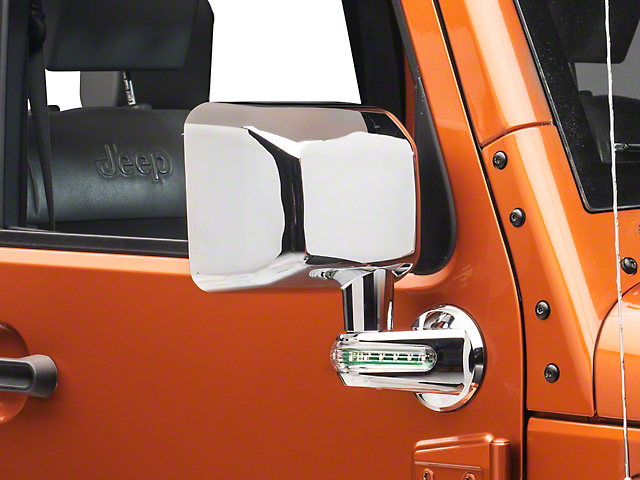 Rugged Ridge Chrome Right Side Mirror w/ LED Turn Signal Indicators (07-10 Jeep Wrangler JK)