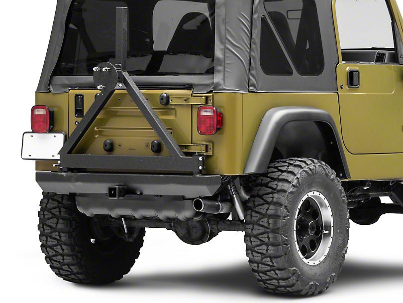 Smittybilt Rock Crawler Classic Rear Bumper w/ Tire Carrier (87-06 Jeep Wrangler YJ & TJ)
