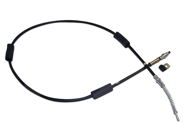 Passenger Side Rear Emergency Brake Cable - 64-3/4 in. (87-90 Jeep Wrangler YJ w/ Rear Disc Conversion)