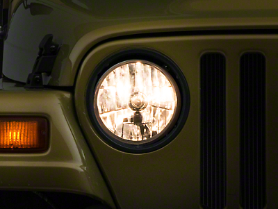 RT Off-Road Round 7 in. Halogen Light Conversion Kit (97-06 Jeep Wrangler TJ)