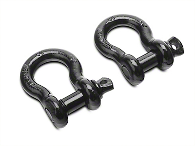RedRock 4x4 7/8 in. Black 13,500 lb. D-Ring Shackles