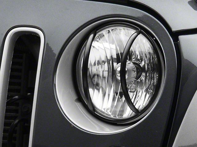 RedRock 4x4 Headlight Euro Guards (07-18 Jeep Wrangler JK)