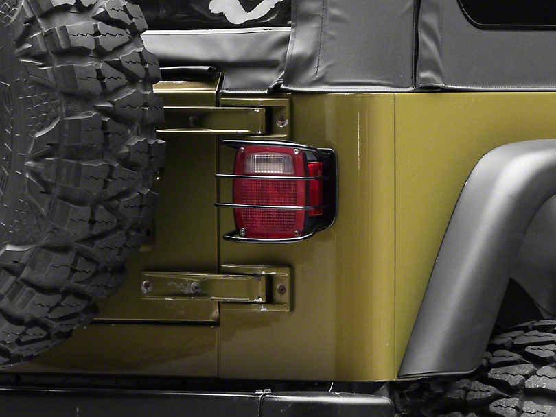RedRock 4x4 Euro Tail Light Guards (87-06 Jeep Wrangler YJ & TJ)