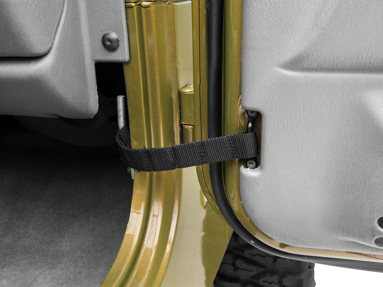 RedRock 4x4 Adjustable Door Straps (87-06 Jeep Wrangler YJ & TJ)
