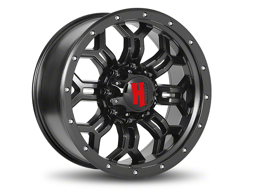 Havok Off-Road H-108 Matte Black Wheel - 20x12 (07-18 Wrangler JK; 2018 Wrangler JL)